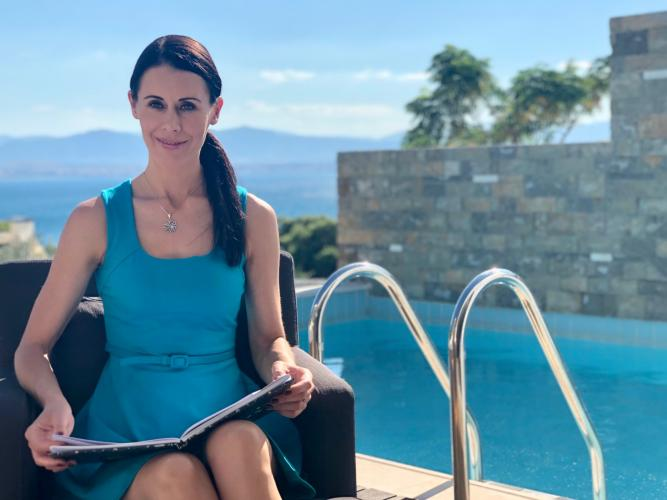 Η Danielle Collins για τα γυρίσματα του BIB στην Ελλάδα